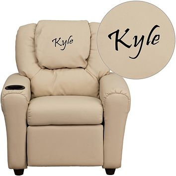 Custom Designed Kids Recliner with Cup Holder and Headrest With Your Personalized Name