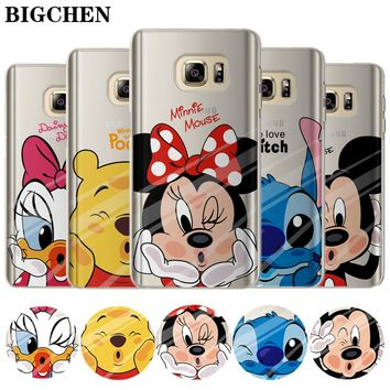 FREE SHIPPING TO USA - Mickey Minnie Case For Coque Samsung Galaxy Grand Prime S6 S7 Edge S8 S9 Plus Note 8 J2 J3 J5 J7 A3 A5 2016 2015 2017 Cover