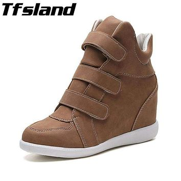Women's Height Increasing Shoes - Breathable Wedges Ankle Boots Trainers Sneakers