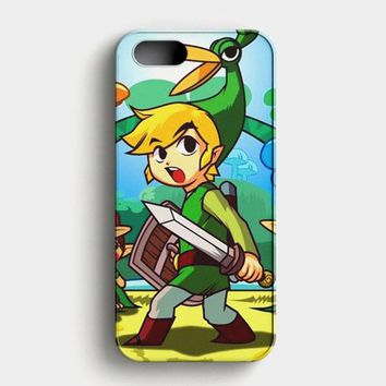Legend Of Zelda Triforce Watercolor iPhone SE Case