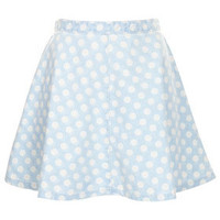 MOTO Bleach Spot Denim Skirt - Skirts  - Clothing