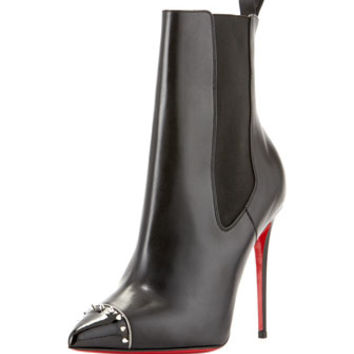 Christian Louboutin Banjo Spiked Cap-Toe Red Sole Bootie