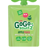 GoGo Squeez Apple Peach Applesauce 3.2 oz Pouches - Pack of 12