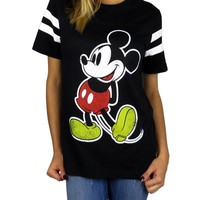 Disney Womens Mickey Mouse Varsity Football Tee