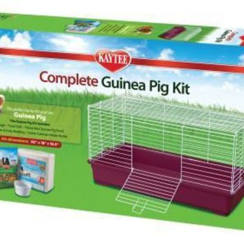 Kaytee Complete Guinea Pig Cage & Kit w/ Food Bowl Water Bottle Beeding