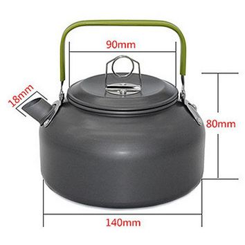 DCCKJG2 1 PC 1.2L Aluminum Tea Kettle Cookware Set Camping Pot Teapot Use for Outdoor Camping  Cooking Tools VEO69 T50