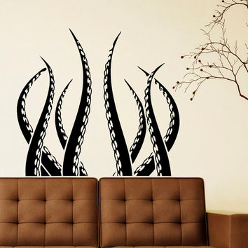 Octopus Tentacles Kraken Sea Animal Wall Decal Vinyl Stickers Art Home Decor Housewares Design Interior Wall Mural Living Room Bedroom C074