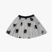Beau Loves Skirt Grey Lovebugs - FINAL SALE