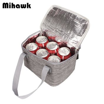 Mihawk Solid Thermal Insulated Cooler Bags Extra Large Picnic Lunch Bag Box Trips BBQ Ice Zip Pack Accessories Supplies Products