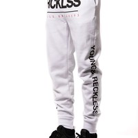 Fast Track Sweatpants- White