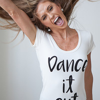 Dance It Out Graphic Tee - Ivory