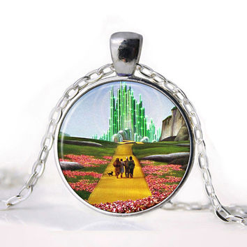 Wizard of Oz Yellow Brick Road Pendant Necklace
