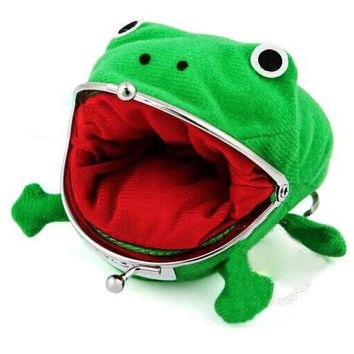 Hallowmas Frogs Zero wallet naruto purse animation Zero wallet green frogs purse props Cosplay