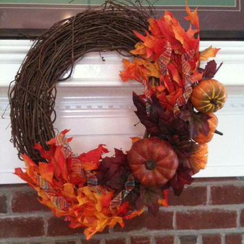 Fall Pumkpin Wreath