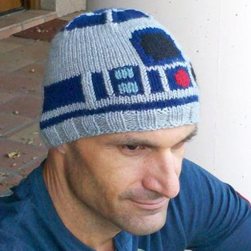 Star Wars R2D2 Droid ski toque/hat Winter Icy Hoth by EricaKnit