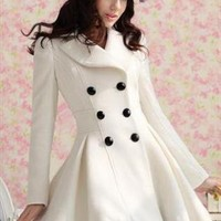 Double Breasted Lady Coat Dress
