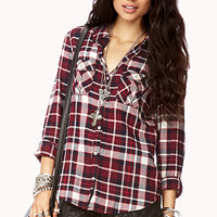 Double Pocket Madras Flannel Shirt
