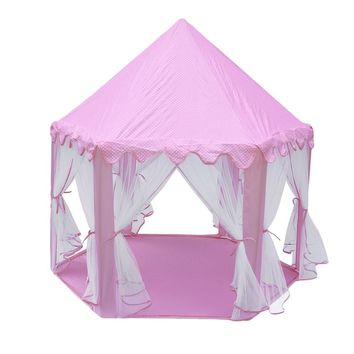 Children Kids Play Tents Folding Toy Tent Pop Up Kids Girl Princess Castle  Indoor House Kids Tent Playhouse