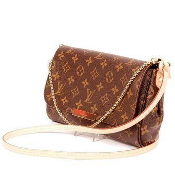 Louis Vuitton Women Fashion Leather Handbag Bag Cosmetic Bag B/A
