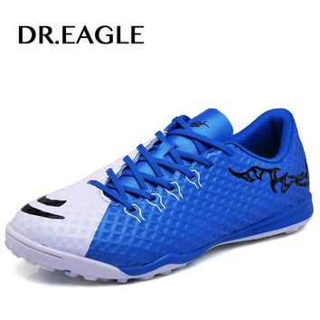 DR.EAGLE  Men's futsal  football cleats child sport Shoes soccer Boots turf/TF sole Indoor boy Shoes soccer boy boot futsal