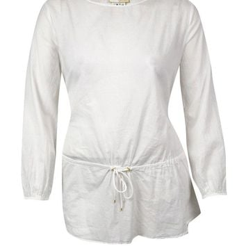 MICHAEL Michael Kors Women's Belted Long Sleeves Swim Cover
