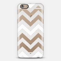 SILVER CHEVRON WHITE iPhone 6 Crystal Clear iPhone 6 case by Monika Strigel | Casetify