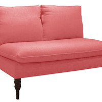 Bacall Settee, Coral, Settees