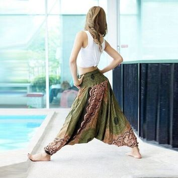 Print Casual Lace Pants [287764086813]