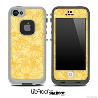 Yellow Shadowed Flowers Skin for the iPhone 5 or 4/4s LifeProof Case