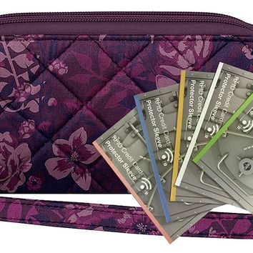 Travelon Safe ID Boho Ladies Wallet with 5 RFID Blocking Sleeves