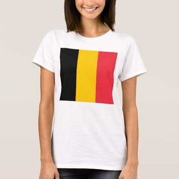 Women T Shirt with Flag of Belgium