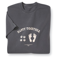 Happy Together Tee - Dog Beds, Gates, Crates, Collars, Toys, Dog Clothing & Gifts