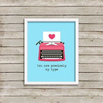 Typerwriter - Wall Art, Print 8 x 10 INSTANT Digital Download Printable