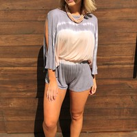 On The Lookout Romper: Multi