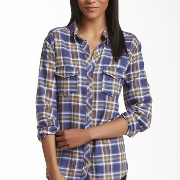 Abound | Abound Western Plaid Shirt (Juniors) | Nordstrom Rack