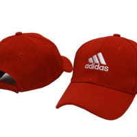 Red ADIDAS Embroidered Baseball Cap