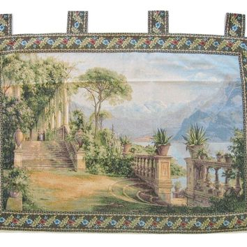 """Grace of Love Elegant Woven Fabric Baroque Tapestry Wall Hanging - 36"""" X 50"""""""