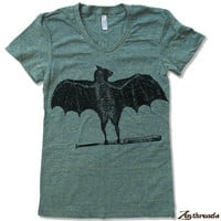 Womens BATS T Shirt American Apparel S M L XL (16 Colors)