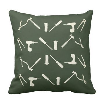 Mechanic Workshop Tools Pattern Cushion Pillow