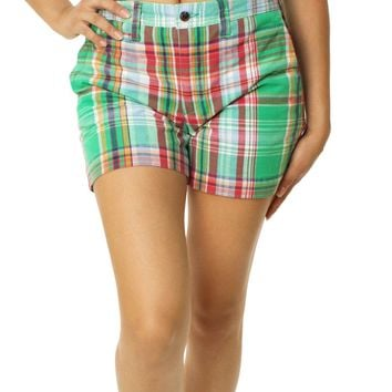 Polo Ralph Lauren Women's Plaid Chino Shorts
