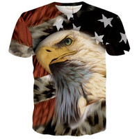 3d T Shirt Animal Eagle Hip Hop Rock Personality Creative Summer O-neck Tee Shirts [10312511683]