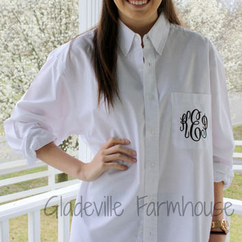 Monogrammed Button Down Bridal Party Shirt