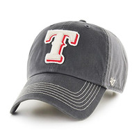 MLB Texas Rangers Cronin '47 Clean Up Adjustable Hat, CHARCOAL, One Size,CHARCOAL