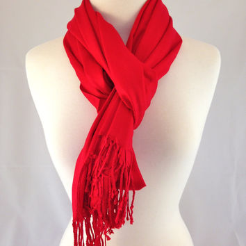 Ruby Red Pashmina