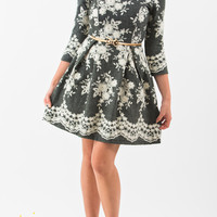 Tayla Grey Lace Mid Sleeve Sweater Dress