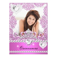 Quinceanera 15th Birthday Hot Pink Silver White