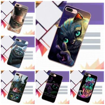 Vvcqod TPU Covers Cases Alice In Wonderland Cat Cheshire We're All Mad For Samsung Galaxy A3 A5 A7 J1 J2 J3 J5 J7 2015 2016 2017
