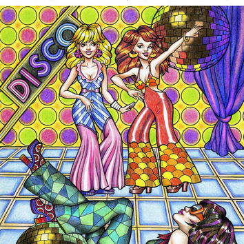 Groovy 70s: Fashion Coloring Book for Adults!