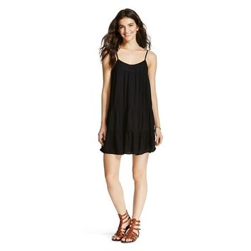 Tierd Babydoll Dress Black XS - Mossimo Supply Co. : Target