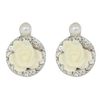 CHIC! Dainty Rose Stud Clip On Earrings